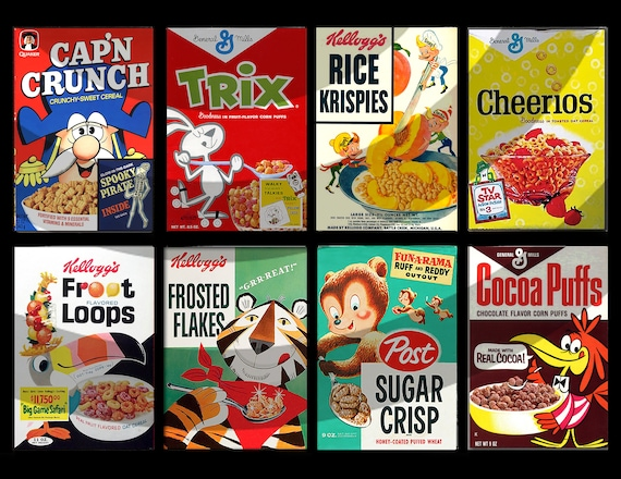 Vintage Cereal Box magnets sold individually or purchase them all