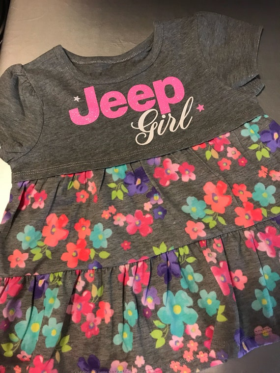 "Jeep Girl Toddler Flower Top ""Limited Time only, while supplies last"""