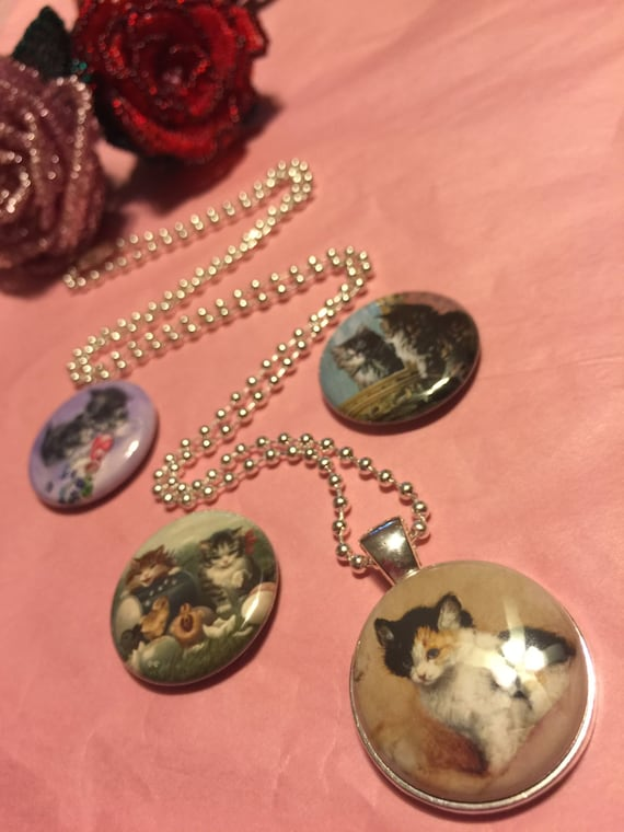 4 Kitten Magnetic interchangeable Necklace or Bracelet