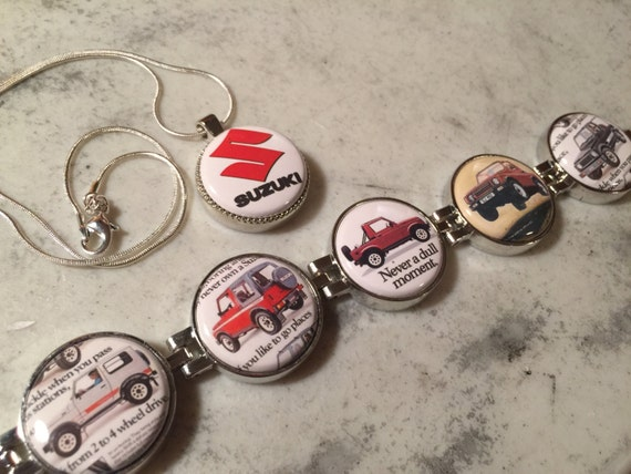 Suzuki Samurai Bracelet and necklace combo / magnetic interchangeable jewelry