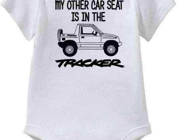 "Suzuki Sidekick, or Geo Tracker Baby Onesies or Toddler T-Shirt ""My other Car Seat"""