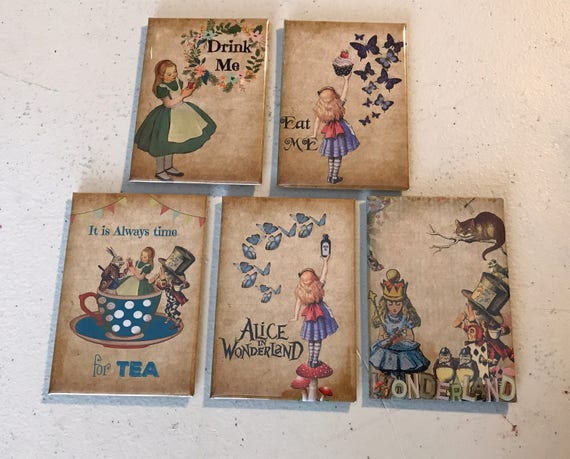 Alice and Wonderland 2x3 magnets.