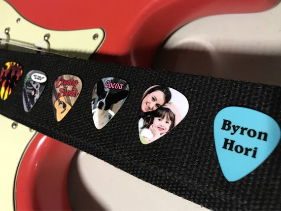 Custom Guitar Picks.   6 Personalized Novelty guitar picks.  Your picture or artwork, both sides