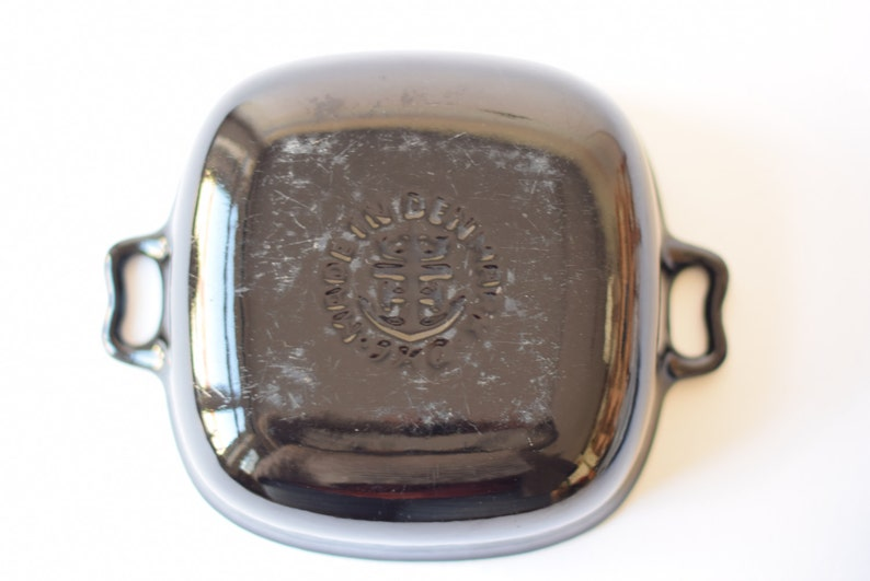 pre DANSK Black Rare ANKERLINE Quistgaard IHQ Large Casserole with Teak Stand  Dutch Oven Danish Mid-century Design 1950s