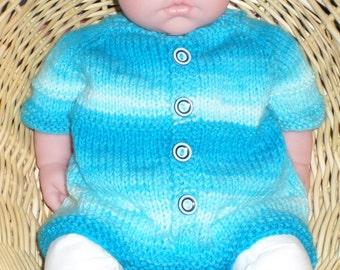 Baby three to 6 months Comfortable cotton Indigo shibori design.Infant girls Tie dye prewashed newborn Easy diaper change with snaps
