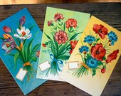 Items similar to vintage finnish postcards flowers greeting vintage finnish postcards flowers greeting cards set of 3 m4hsunfo