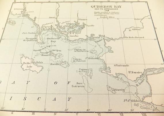 Quiberon Bay Map Map Of Quiberon Bay Battle Maps Bataille Etsy