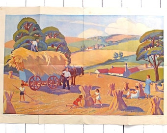 Vintage poster print, vintage poster art, English Countryside art, Country decor