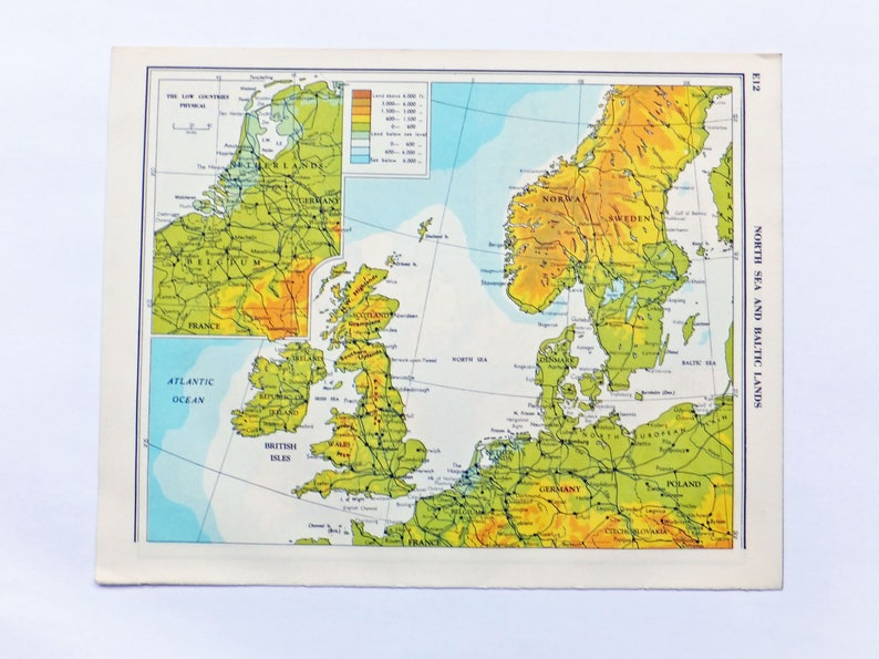 Map Of Germany North Sea.North Sea Map Baltic Lands Map Old Map Of North Sea And Baltic Uk Sweden Norway Germany Denmark Travel Map