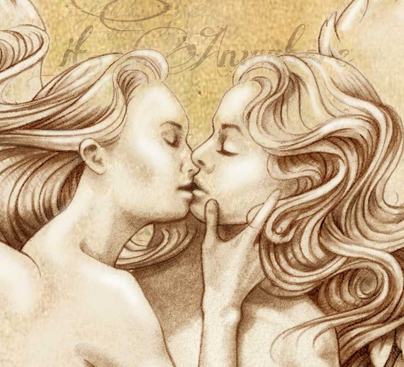Angel and devil lesbian