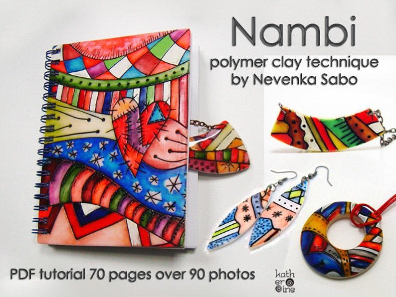 Polymer clay tutorial PDF tutorial Nambi technique DIY e image 0