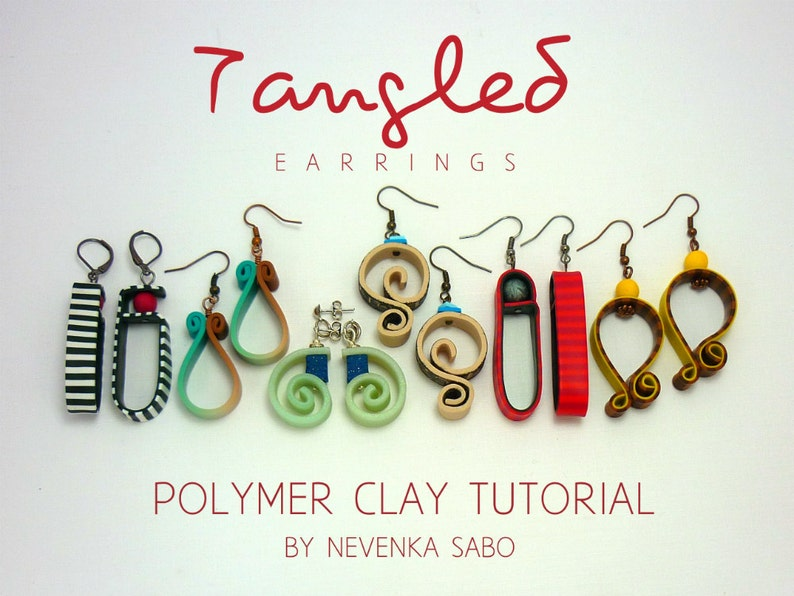 Polymer Clay Tutorial Tangled Earrings E Book Pdf Etsy