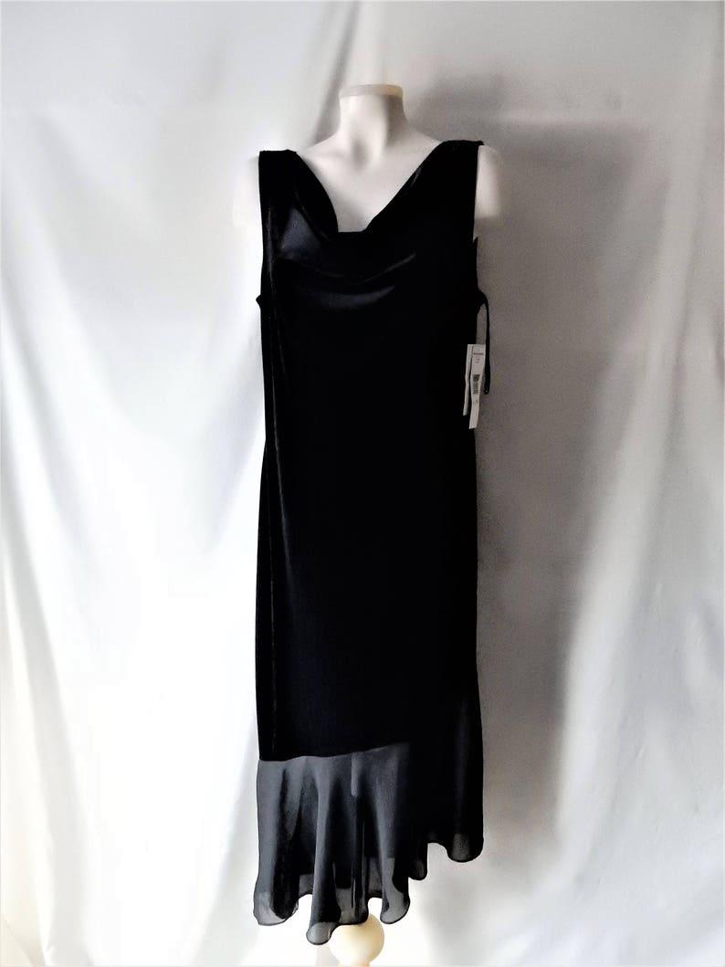 2ee6ca514d87 Sz 14 NOS Jessica Howard Velvet Formal Evening Black | Etsy