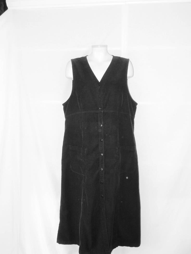 1d56a5f90c Sz 18 Eddie Bauer Corduroy Maxi Jumper Dress Empire Waist | Etsy