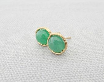 Jade Earrings Brides Gifts Gem Earrings