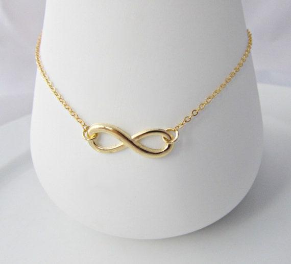 Infinity Bracelet Gold Infinity Bracelet Bridesmaid Gifts  be5c46fb4