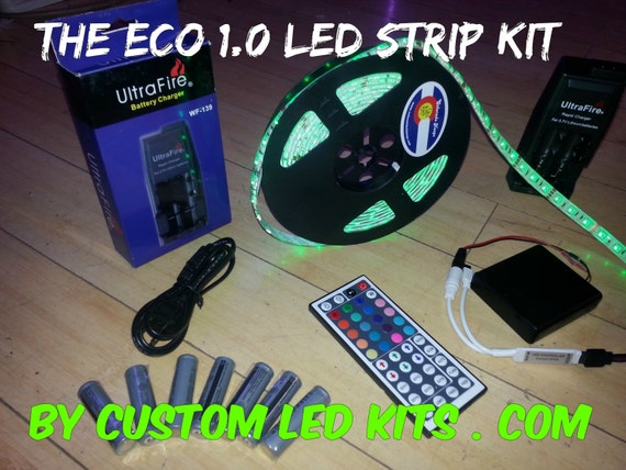 cd6b73900d8 Battery Powered 5050 Waterproof LED Light Strip Kit The ECO
