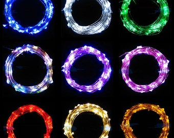 Phoenix Multi Color Strobing  Fairy Lights LED String Light AA Battery Operated 10 ft in length with 30 LEDs