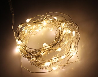 Warm White Fairy Lights LED String Light AA Battery Operated 10 ft in length with 30 LEDs