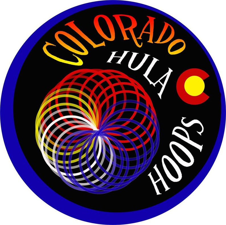 By Colorado Hoops Specialty Taped Hula Hoop Watermelon Haze Heavy Exercise