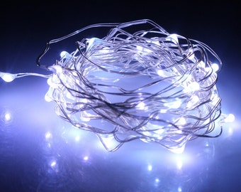Cool White Fairy Lights LED String Light AA Battery Operated 10 ft in length with 30 LEDs