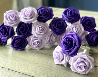 Purple Rose Flower Pens - Wedding Favors -Bridal Gifts - Birthday Favors - Gifts -Stationary Gifts - Pen Set- Office Gift