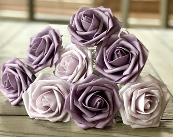 Purple Rose Flower Pens - Wedding Favors -Bridal Gifts - Birthday Favors - Gifts -Stationary Gifts - Pen Set - Office Gift - Mother's Day