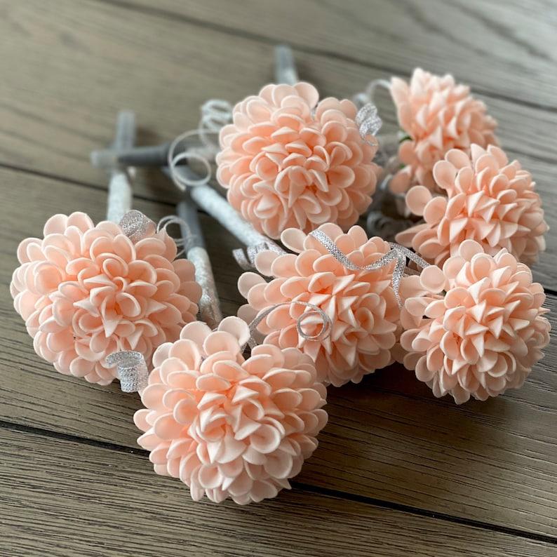 Dahlia Flower Pens  Wedding Favors Bridal Gifts  Birthday image 0