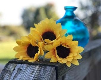 Sunflower Flower Pen - Fall Home Office Gifts - Fall Bridal Favors - Birthday Favors - Office Gifts - Sunflower