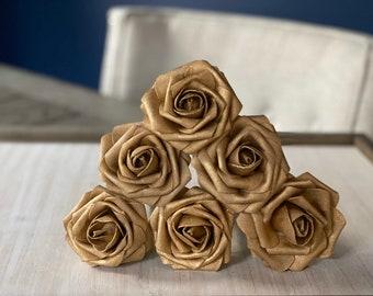 Gold Rose Flower Pen | Wedding Favors | Bridal Shower Gift | Stationary Gifts | Writer Gift | Desk Flowers
