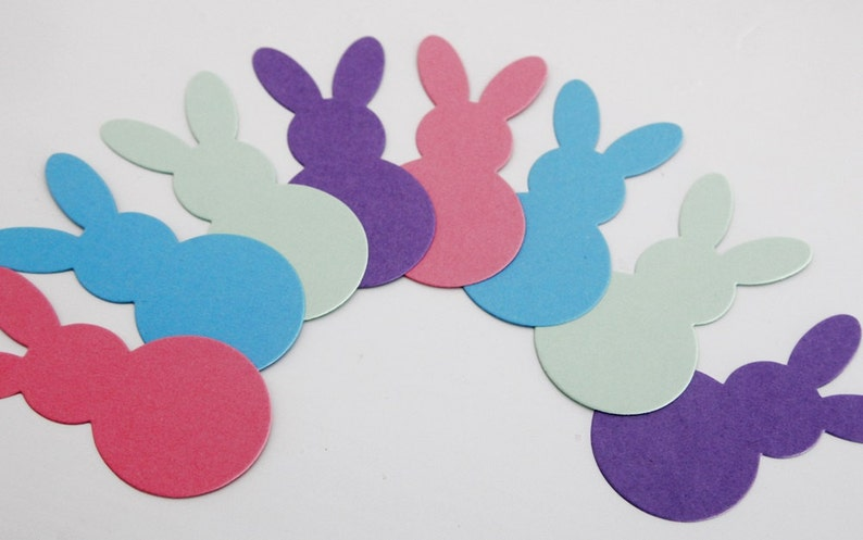 Easter Bunny Die Cut Shapes Bunny Confetti Classroom Etsy