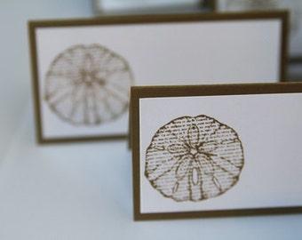 Sand Dollar Wedding Place Cards, Wedding Food Labels, Beach Wedding Decorations, Destination Wedding Decor