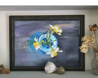 Daffodils, Original watercolor Painting