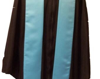TURQUOISE  Embroidered Satin Graduation Stole/Custom Graduation Sash/Class of 2019/Bold Embroidery