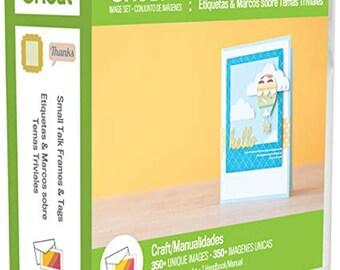 CRICUT CARTRIDGE Small Talk Frames & Tags/Cricut Explore/Cricut Air/Cricut Maker