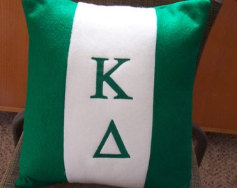 "KAPPA DELTA  Embroidered Fleece/Felt 14"" Pillow"