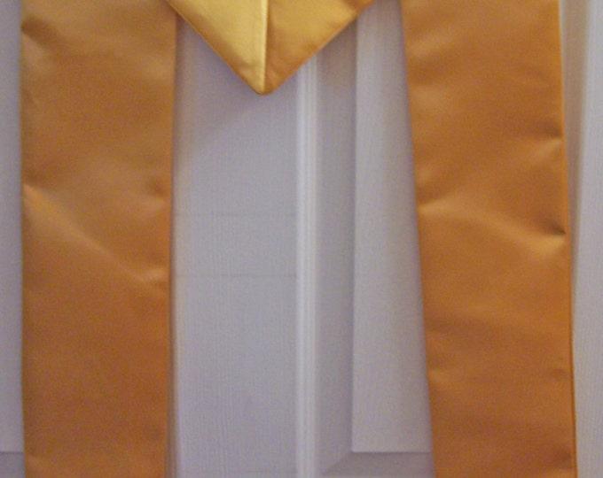 GOLD Greek Letter Embroidered Satin Graduation Stole