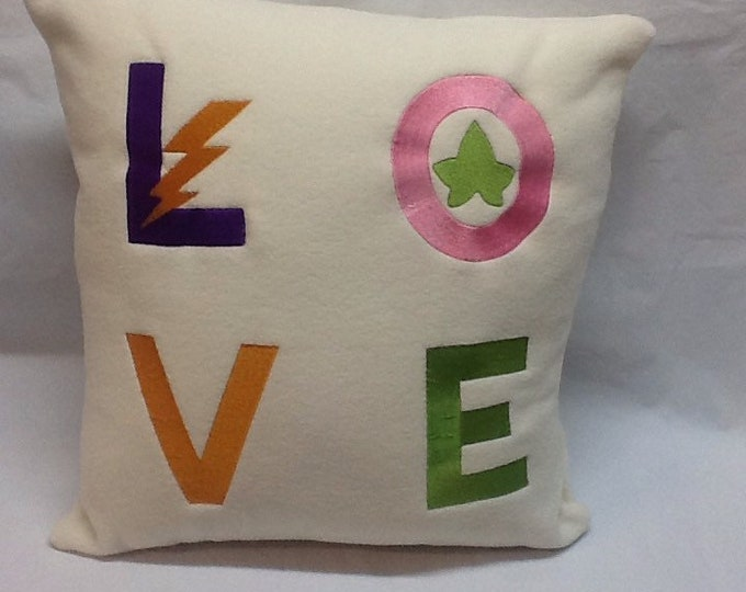 Alpha kappa alpha omega psi phi love pillow / embroidered sorority/fraternity pillow/ skeewee que valentine love pillow/ embroidered alpha