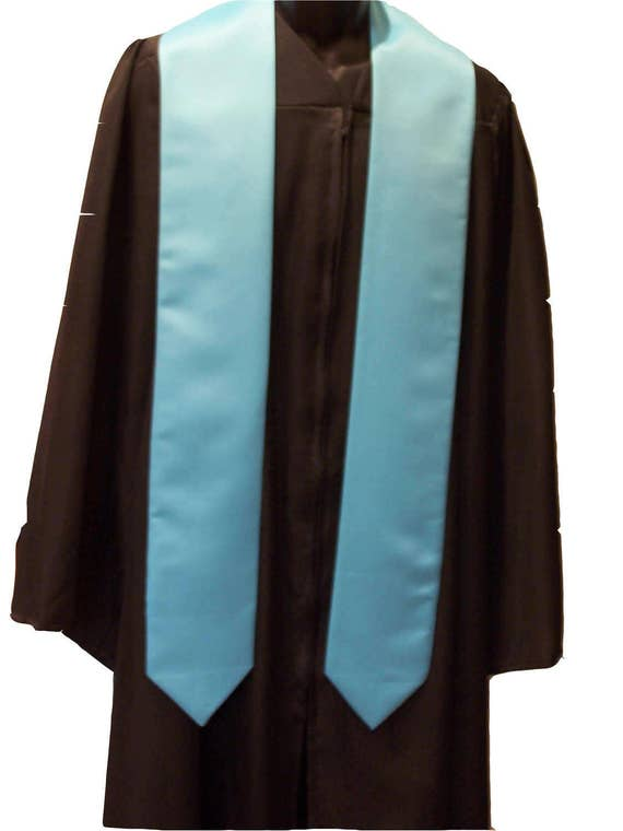 TURQUOISE Embroidered Satin Graduation Stole/Custom Graduation Sash/Class of 2019-2020/Bold Embroidery/Graduation Sash/Free Shipping