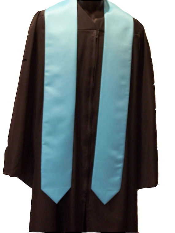 TURQUOISE Embroidered Satin Graduation Stole/Custom Graduation Sash/Class of 2019-2020/Bold Embroidery/Graduation Sash/Free Shipping