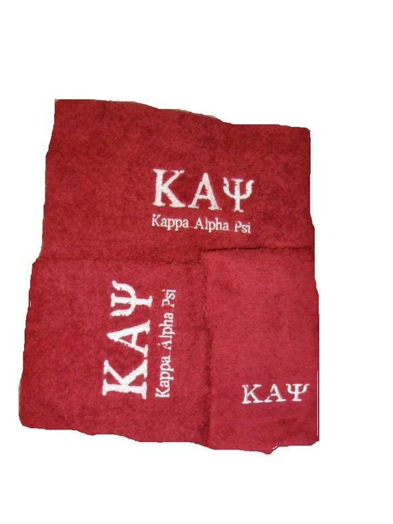 KAPPA ALPHA PSI red  3 piece Towel Set (Bath, Hand and Wash)
