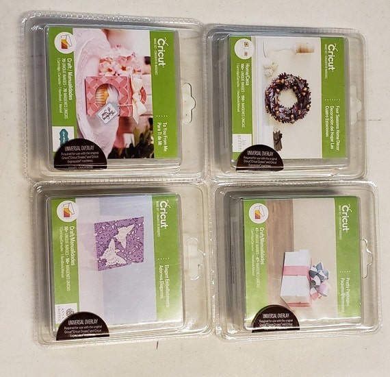 CRICUT Vinyl/Papercraft Cartridges/To You From Me/Elegant Embellishments/Pretty Packages/Four Seasons Home Decor