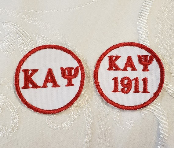 2 inch Round KAPPA ALPHA PSI Greek Letter Patch/Embroidered Greek Letter Kappa Alpha Psi Iron on Embroidered Patch/Duck Cloth Nupe Patch