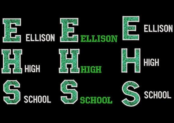 Ellison High School Nylon Jacket reserved for Marissa Martin/Custom Embroidered Nylon Jacket/High School Jacket