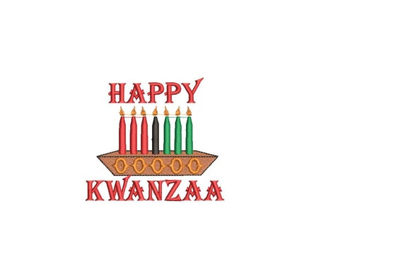 "KWANZAA KINARA Embroidery Design/ 2.9"" x 2.9""/KWANZAA Kinara/Candle Holder  Machine Embroidery File/hus, pes, jef, dst, sew, shv, vp3, xxx"