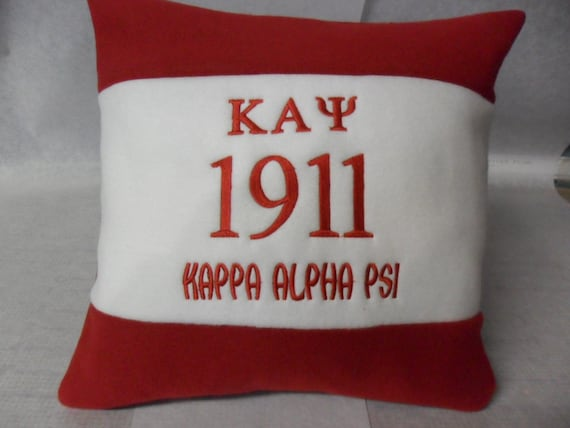 "KAPPA ALPHA PSI  Greek Letter Embroidered 14"" Fleece Pillow"