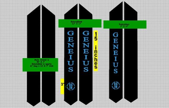 Sample Custom Graduation Stole for Taylor H 02