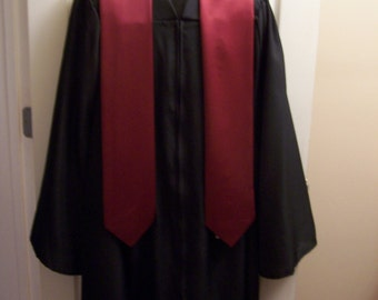Maroon Embroidered Graduation stole -Choir stole- Clergy Stole, College University stole-HS Stole-Greek Lettered stole-Class of 2018 stole