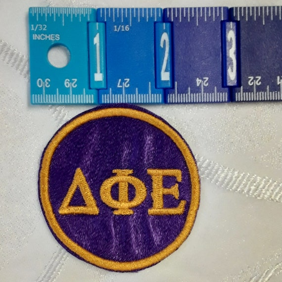 "Omega Psi Phi PATCH 2"" round Greek Letter Patch/ Satin Iron On Patch/Sigma Pi Beta Embroidered 2"" Round Iron On Patch"