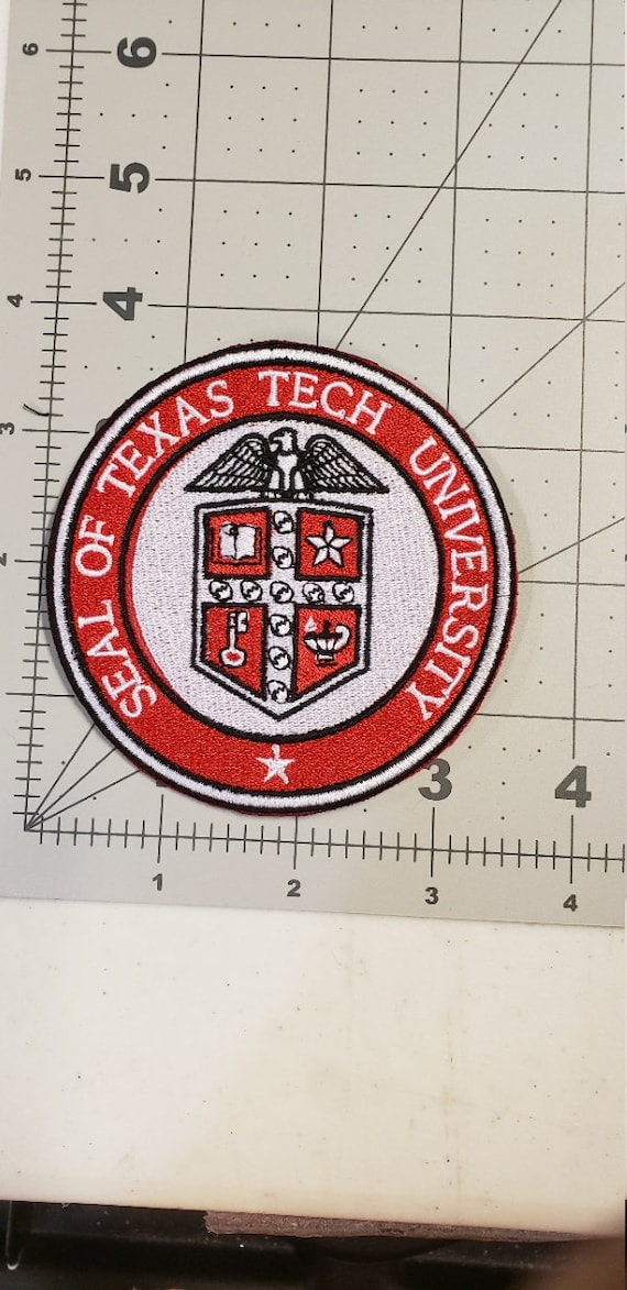 TEXAS TECH UNIVERSITY 3.5 inch Embroidered Round Patch/Texas Tech Patch/Texas Tech Embroidered